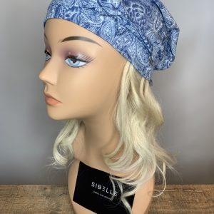 Foulard à élastique (bleu)