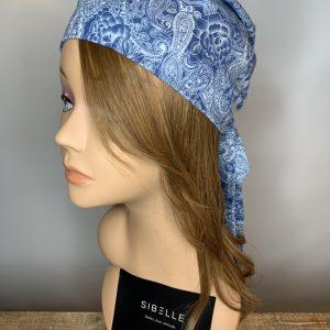Foulard à corde (bleu)