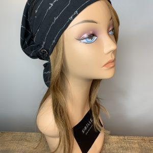 Scarf with elastic (black)